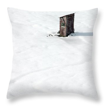 Throw Pillow featuring the photograph A Snowy Path by Karen Lee Ensley