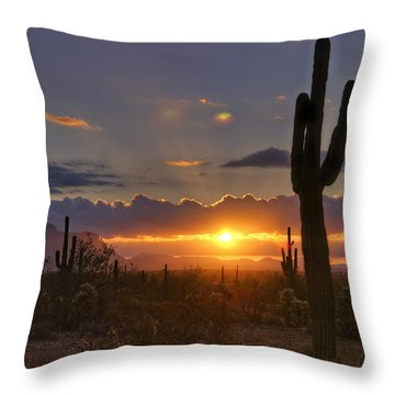 A Spectacular Sunrise  Throw Pillow by Saija  Lehtonen
