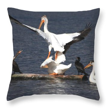 A Step Ahead Throw Pillow