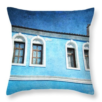 A Story In Blue Throw Pillow