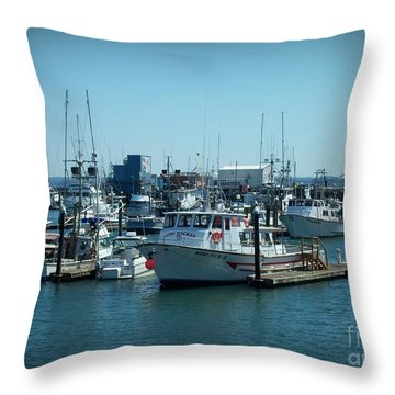 A Sunny Nautical Day Throw Pillow
