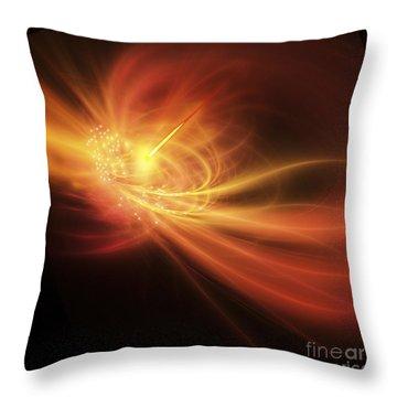 A Supernova Explosion Causes A Bright Throw Pillow