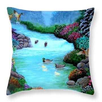 A Taste Of Heaven Throw Pillow by Fram Cama