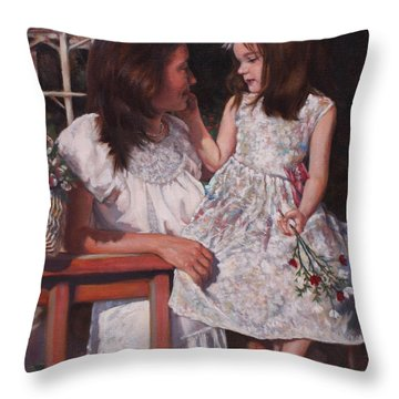 Throw Pillow featuring the painting A Tender Touch by Harvie Brown