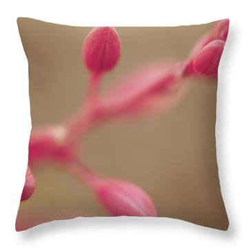 A Tentative Touch Throw Pillow by Laurie Search