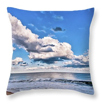 Throw Pillow featuring the photograph A Time To Reflect by Jim Moore