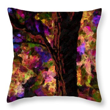 Throw Pillow featuring the painting A Touch Of Lavender by Steven Lebron Langston