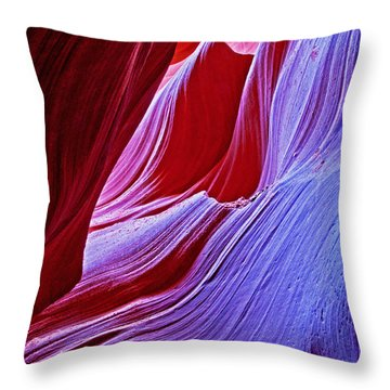 A Touch Of Purple Throw Pillow