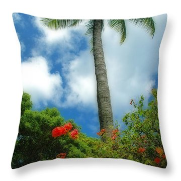 A Touch Of The Tropics Throw Pillow by Lynn Bauer