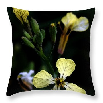 A Touch Of Yellow Throw Pillow
