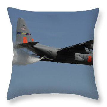 A U.s. Air Force C-130 Hercules Throw Pillow by Stocktrek Images