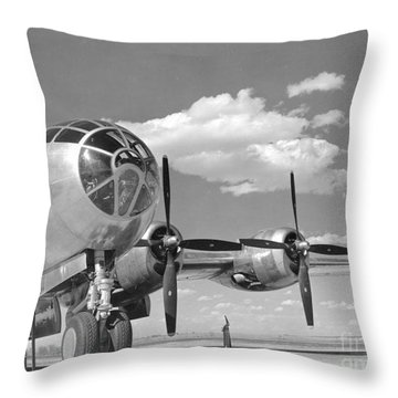 A U.s. Army Air Forces B-29 Throw Pillow by Stocktrek Images