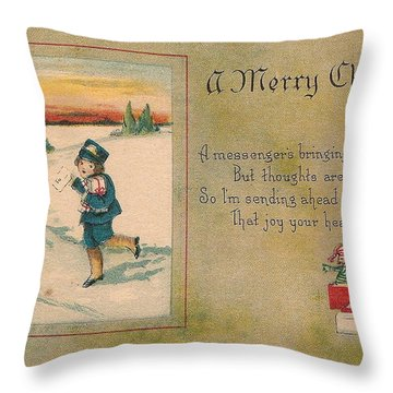 A Very Merry Christmas Throw Pillow by Angela Wright