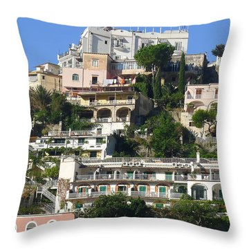 Throw Pillow featuring the photograph A View Across by Nora Boghossian