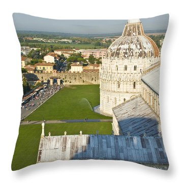 A View From The Bell Tower Of Pisa  Throw Pillow