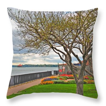 Throw Pillow featuring the photograph A View From The Garden by Michael Frank Jr