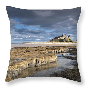 A View Of Bamburgh Castle Bamburgh Throw Pillow