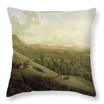 A View Of Boxhill - Surrey Throw Pillow by George Lambert