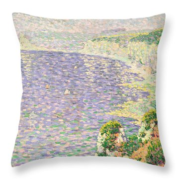 A View Of The Cliffs Of Etretat Throw Pillow