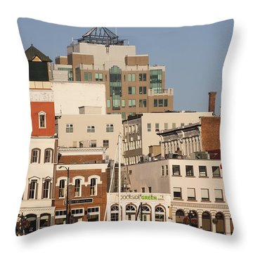 A View Of The Skyline Of Victoria Throw Pillow by Taylor S. Kennedy