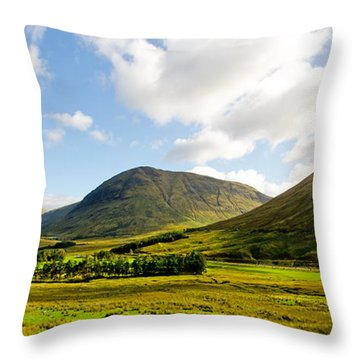 A View Over Rannoch Moor Throw Pillow by Chris Thaxter