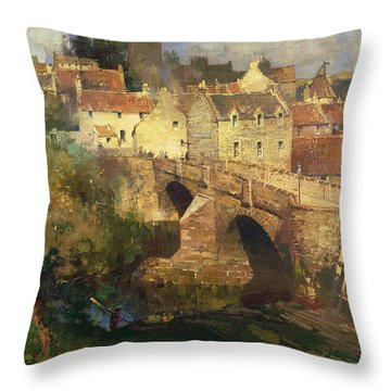 A Village In East Linton Haddington Throw Pillow by James Paterson