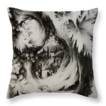 A Vintage Romance Throw Pillow by Rachel Christine Nowicki