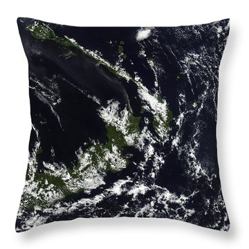 A Volcanic Plume From The Rabaul Throw Pillow by Stocktrek Images
