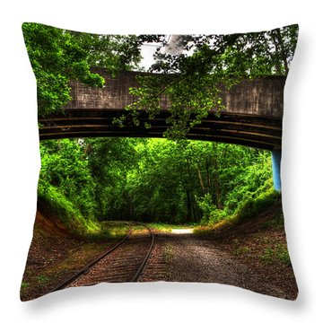 A Walk Along The Tracks Throw Pillow