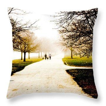 A Walk In The Fog Throw Pillow