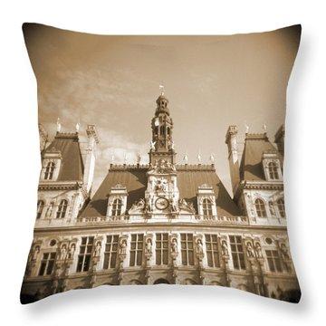A Walk Through Paris 15 Throw Pillow by Mike McGlothlen