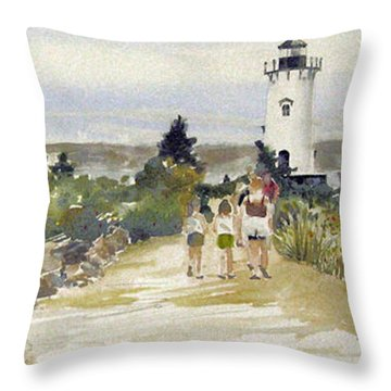 A Walk To Edgartown Light Throw Pillow