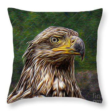 A Young Brave   Throw Pillow
