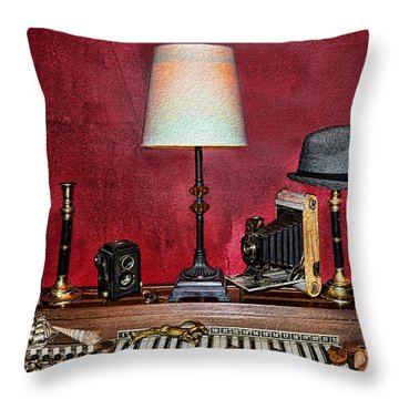 A Young Man's Treasures Throw Pillow