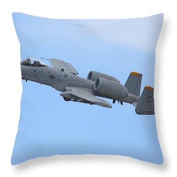 A10 Warthog Throw Pillow by Ken Brannen