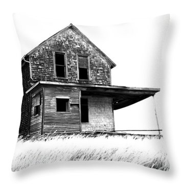 Abandoned And Alone 2 Throw Pillow by Bob Christopher