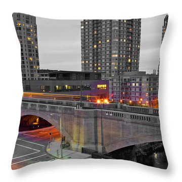 Abandoned Boston Throw Pillow by Joann Vitali