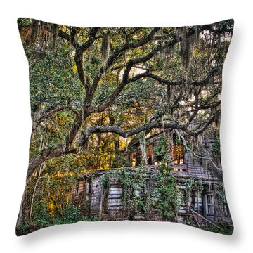 Abandoned But Not Forgotten Throw Pillow by Andrew Crispi