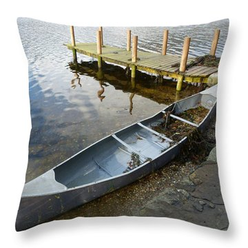 Throw Pillow featuring the photograph Abandoned Canoe by Lynn Bolt