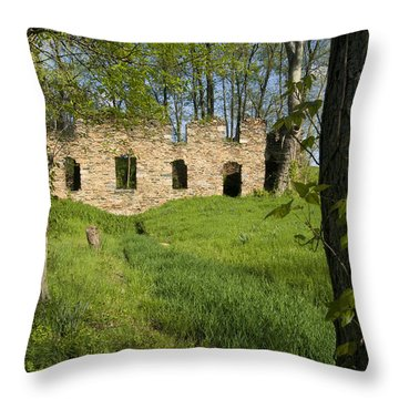 Throw Pillow featuring the photograph Abandoned Cider Mill by Jim Moore