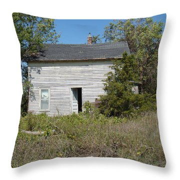 Throw Pillow featuring the photograph Abandoned by Bonfire Photography