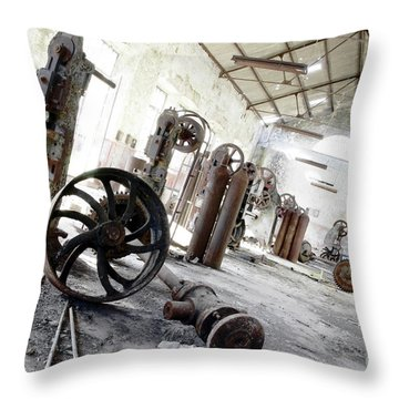 Abandoned Factory Throw Pillow by Carlos Caetano