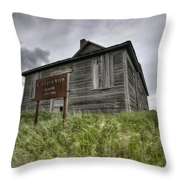 Abandoned Farm Throw Pillow by Mark Duffy