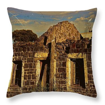 Throw Pillow featuring the digital art Abandoned Farmhouse by Blair Stuart