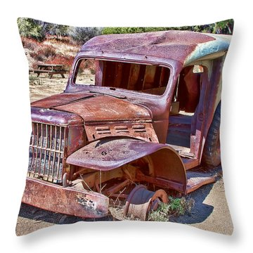 Abandoned Medic Truck Throw Pillow