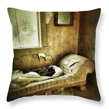 Abandoned Parlor Throw Pillow by Jill Battaglia