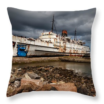 Abandoned Ship Throw Pillow