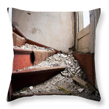 Abandoned Stairs Throw Pillow by Cale Best