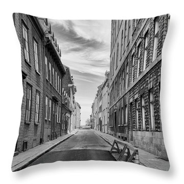 Abandoned Street Throw Pillow by Eunice Gibb