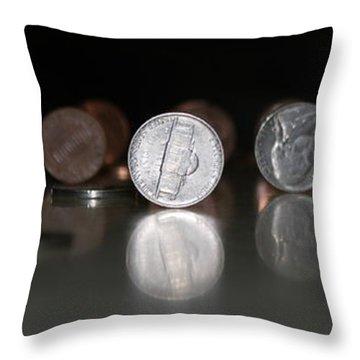 Abe Vs Jefferson Panorama Throw Pillow by Patrick Witz